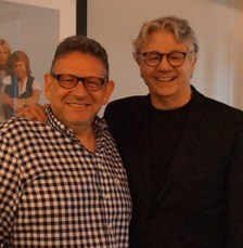 (L-R) Sir Lucian Grainge, Chairman/CEO, Universal Music Group; Steve Miller