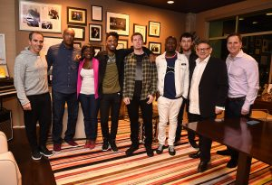 Monte Lipman- Founder & CEO - Republic Records, Naim McNair – SVP Urban A&R, Republic Records, Uwonda Carter – The Carter Law Firm, Metro Boomin - Producer, Dan Friedman – Management, Rico Brooks - Management, Tyler Arnold - Manager, A&R, Republic Records, Sir Lucian Grainge - Chairman & CEO of Universal Music Group, Steve Gawley - EVP, Business & Legal Affairs, Universal Music Group (Photo by Frank Micelotta/PictureGroup)